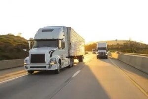 Image of trucks on the road